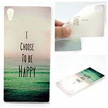 To Be Happy Words Phrase Pattern 0.6mm Ultra-Thin Soft Case for Sony Xperia Z4
