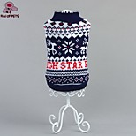 FUN OF PETS® Christmas Festival Classic Snowfake Pattern Dogs Sweater for Pets Dogs Clothings
