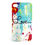 Water Color  Pattern TPU Soft Case for iPhone4/4S