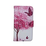 Red Butterfly Painted PU Phone Case for iphone 6/6S