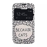 Cartoon Painting Because Cats Pattern TPU+PU Flip Shell Phone Case For Al Carter C7