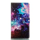 Starry Sky Pattern Card Stand Leather Case for Huawei P8/P8Lite