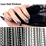 10pcs  Lace Nail Stickers  Random Color