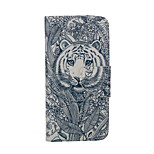 Tiger Pattern Card Stand Leather Case for iPhone 6/6S