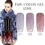 1PCS ANA Fur Color Gel 12Colors Long Lasting Nail Polish 7-9