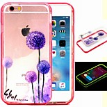2-in-1 Purple Dandelion Pattern TPU Back Cover with PC Bumper Shockproof Soft Case for iPhone 6/6S