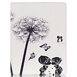 Childhood Sweethearts Pattern PU Leather Case with Stand and Card Holder for iPad Air