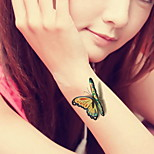 Butterfly Flower Waterproof Flower Arm Temporary Tattoos Stickers Non Toxic Glitter