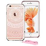 ESR® protección contra golpes serie tótem esquina absorbente del tpu + pc dura de nuevo caso para el iphone 6 / 6s plus-rosa manjusaka