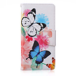 Colored Butterflies Painted PU Phone Case for Sony Xperia Z5