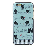 Kitten on the Piano Pattern  Hard Case for iPhone 6/6S