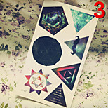 Temporary Tattoos Stickers Non Toxic Glitter Waterproof Multicolored Glitter 1 Package 17*16CM  Diamond