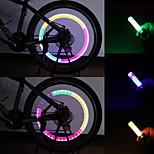 Luces para bicicleta , luces intermitentes tapa de la válvula / luces de seguridad / Luces para Gorras - 1 / 3 Modo 80 LumensA Prueba de