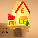 Creative Design House-Shaped Ceramic Lamp Night Light Bedside Lamp Fragrance