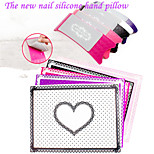 1Set ABC Acrylic Silicone Hand Pillow Pad With Detachable Cleaning High-Grade Manicure Hand Pillow 5 Colors Options