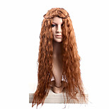 Cosplay Brown  Wig Extensions Fashion Syntheic Wave  Wig