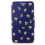 kinston® Indische Elefanten Muster Ganzkörper-PU-Abdeckung mit Standplatz für htc eins M7 / M8 / M9 und HTC Desire 816/826 / Augen
