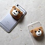 Cartoon Doll Transparent TPU Acrylic Back Cover Case for iPhone 6/6S