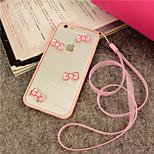 ifashion® ragazza rosa bowknot bello caso duro e molle per il iphone 5 / 5s