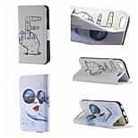 especialmente concebidos desenho colorido ou padrão pu caso de dupla face tampa de couro para iPhone 5 / 5s