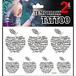 Temporary Tattoos Stickers Non Toxic Glitter Waterproof Multicolored Glitter 1 Package