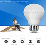 1 st LERHOME E26/E27 7 W 28 SMD 680 LM Kallvit A70 Ljudaktiverad / Dekorativ Smart LED-lampa AC 220-240 V