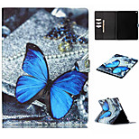 Butterfly Pattern Flip the Card Holder Protection Case for iPad Pro