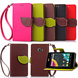 KARZEA™ Leaf Snap PU Full Body Case with TPU Back Cover Stand for Acer Liquid z220 m220(Assorted Colors)