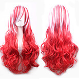 68cm Long Curly Ombre Color Ladies Synthetic Hair Wig