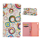 Circle Pattern Card Stand Leather Case for Sony Xperia Z3/Z4