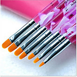 1Set Manicure kit Phototherapy Pen Purple Rod Flat Head 7 Pack Manicure Tool Wholesale Yellow