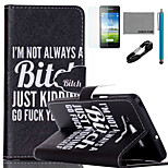 COCO FUN® Black Humor Pattern PU Leather Case with V8 USB Cable, Flim and Stylus for Samsung Galaxy A5