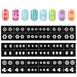 1Pcs  Hot Money Manicure Printing Template DIY Creative 12 Hollow Decals