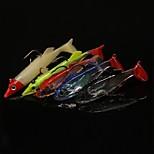 10 Pcs Mustad Hooks 3D Eye Lead Plasting Fish Soft Bait 7.2 g/ 77 mm Fishing Lures Wholesale 5 Colors
