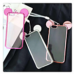 Luxury Plating Transparent Soft TPU Material Mickey Ears Back Cover Case for iPhone 6/6S(Assorted Colors)