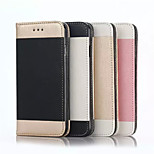 Flip Cover Stand Wallet Case Golden Grain Simple PU Mobile Phone Shell for iphone 6S 4.7 Assorted Colors