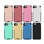 Plastic and Silicone Material Double Color Design for iPhone 6/6S (Assorted Colors)