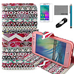 COCO FUN® Tribal Rose Pattern PU Leather Case with V8 USB Cable, Flim and Stylus for Samsung Galaxy A3