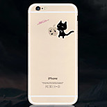 Black Cat Pattern Environmental Quality TPU Soft Phone Case for iPhone 6/6S
