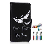 Grin PU Material  Phone Case Dust Plug Stylus Pen Combination for Samsung S3/4/5/6/S4 Mini/S6 edge/S6 edge+