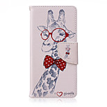 Giraffe Painted PU Phone Case for Sony Xperia Z5