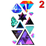 Temporary Tattoos Stickers Non Toxic Glitter Waterproof Multicolored Glitter 1 Package 17*13CM Diamond