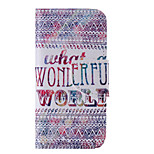 The New Color Letters PU Leather Material Flip Card Cell Phone Case for iPhone 5 /5S
