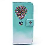 balão colorido com casa pu couro ficar tampa da caixa com slot para cartão para o iphone 6 / 6s 4,7 polegadas