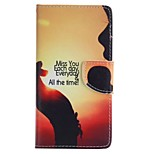 Setting Sun Painted PU Phone Case for Huawei P8 Lite/P8