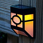 Outdoor 2 LED Solar Powered Light Sensor Fence Wall Light Garden Yard Path Lamp Warm White
