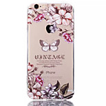 White Butterfly TPU+Acrylic Anti-Scratch Backplane Combo Phone Case for iPhone 6/6S