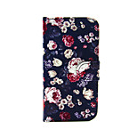 Colorful Rose  PU Leather Full Body Case with Stand for iPhone 5/5S