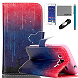 COCO FUN® Star Night Pattern PU Leather Case with V8 USB Cable, Flim and Stylus for Samsung Galaxy Core Prime G360