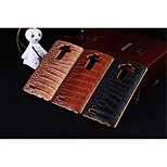 High Quality Plating Golden PC+ PU Leather Material Phone Shell For LG G4 (Assorted Color)